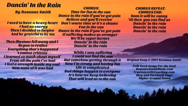Lyric Photo--Dancin' In the Rain2
