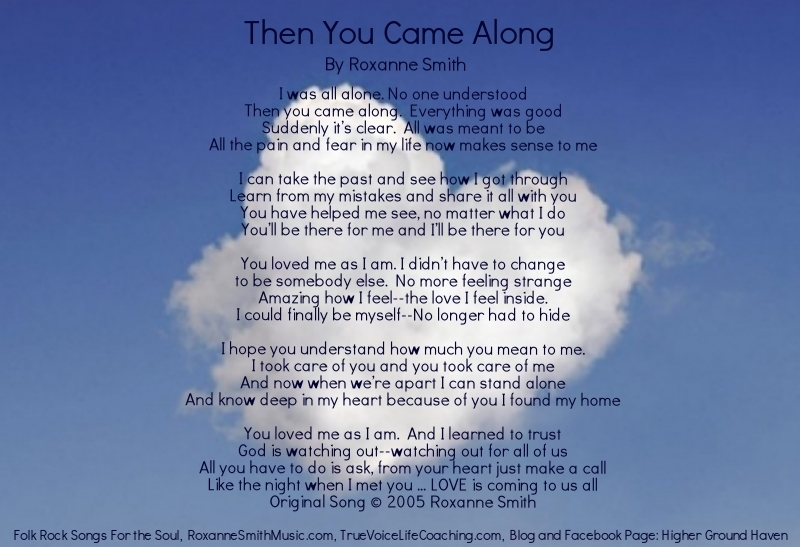 Lyric Photo-Then You Came Along
